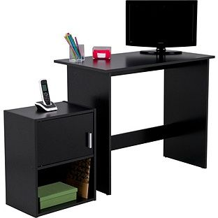 Buy Soho Office Desk And Cabinet Package Black At Your Online Shop For Desks And
