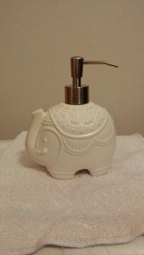 Bohemian Elephant Soap Dispenser, Ceramic   Cynthia Rowley New York Bath  Collection   TJ Maxx