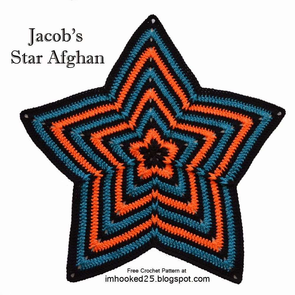 Jacob\'s Star Afghan | Free Crochet Pattern by I\'m Hooked! | tejidos ...
