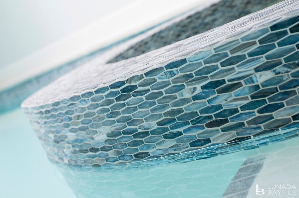 Pool Tile Design Ideas Pool Mosaics in 2019 | Waterline pool ...