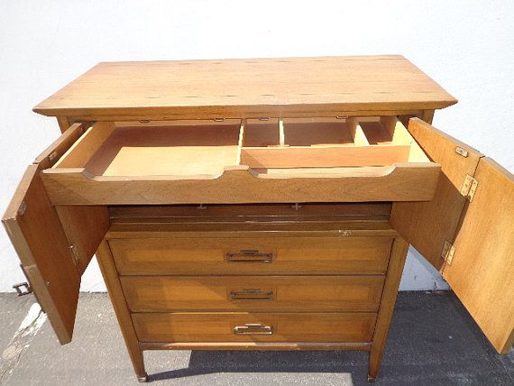 Dresser White Furniture Gentleman's Chest of by DejaVuDecors