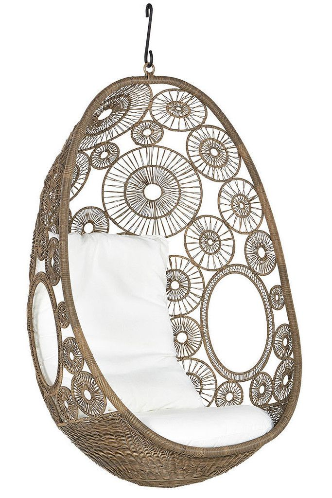 Lina Hanging Egg Chair Black White Natural Hanging Egg Chair
