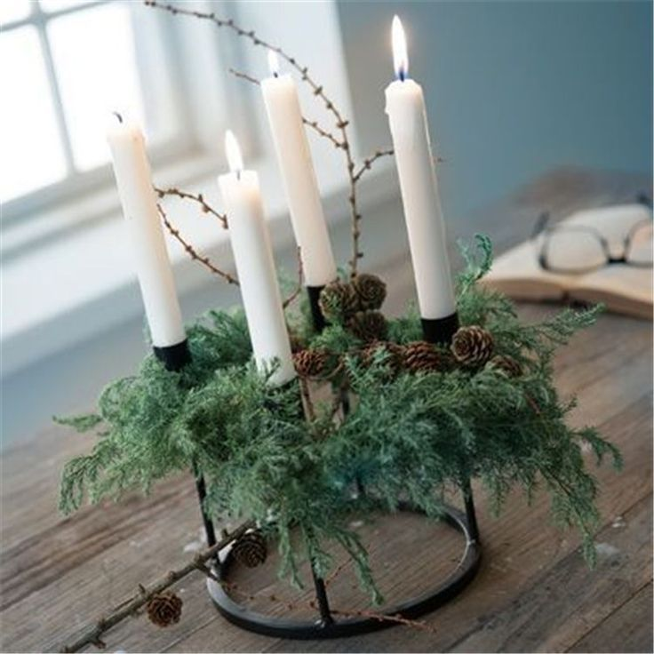 New Inspiration of Christmas Home Decor; Table Decorations; DIY Christmas Centerpiece; Christmas Crafts; Christmas Decor DIY; Rustic Natural Decoration; Home Decor; #Sumcoco #adventskranzskandinavisch