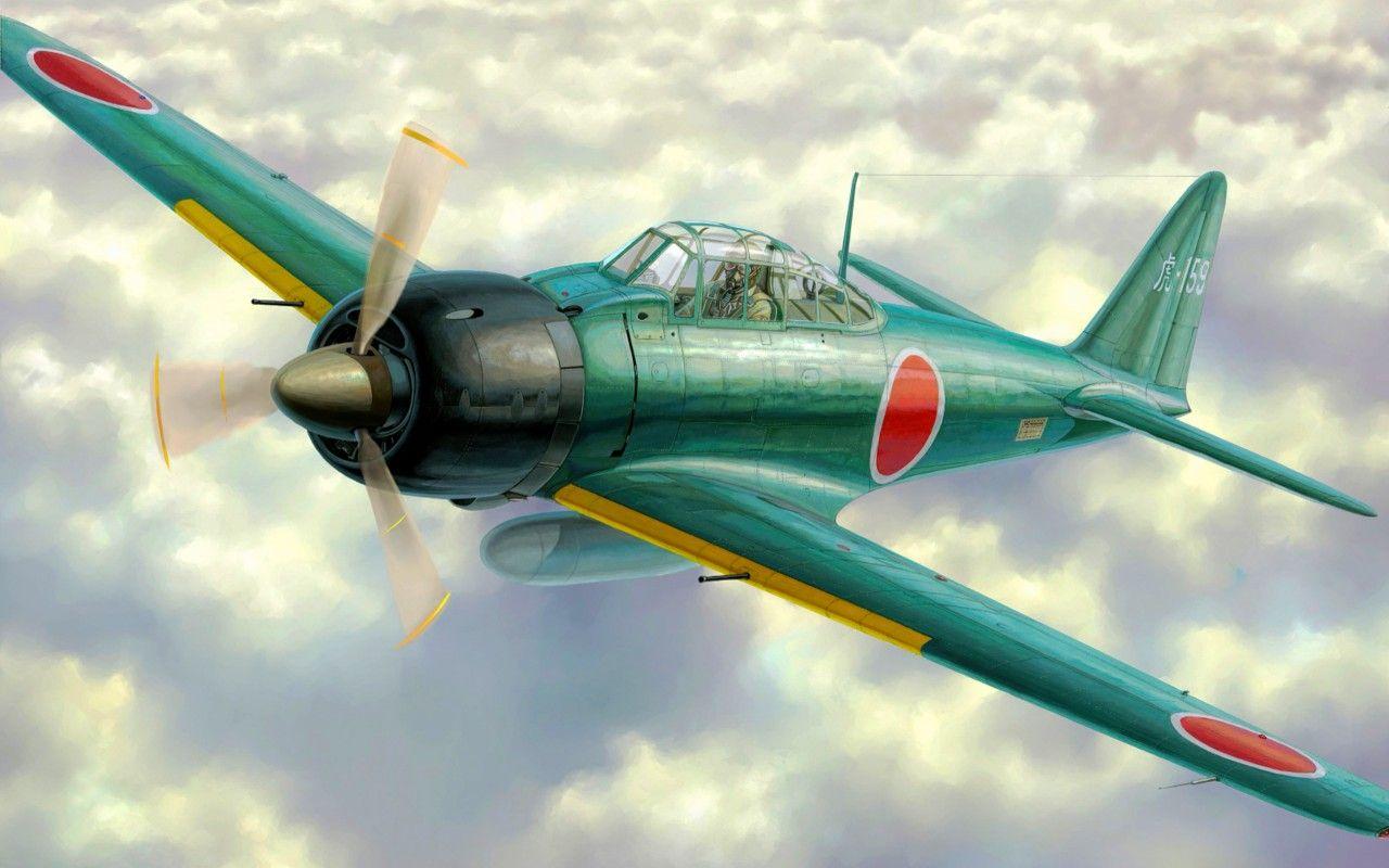 99 mitsubishi a6m zero japan wwii pacificocean - HD1280×800
