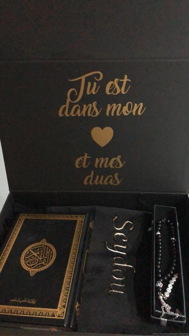 muslim gift set with rug tasbih and