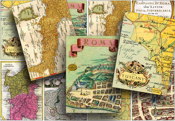 Vintage maps for printing your own GIFT TAGS.