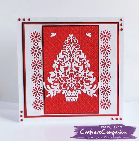 7 X 7 Card Made Using Sara Signature Scandinavian Christmas Collection Designed By Angela Cle Country Christmas Cards Scandinavian Christmas Cards Handmade
