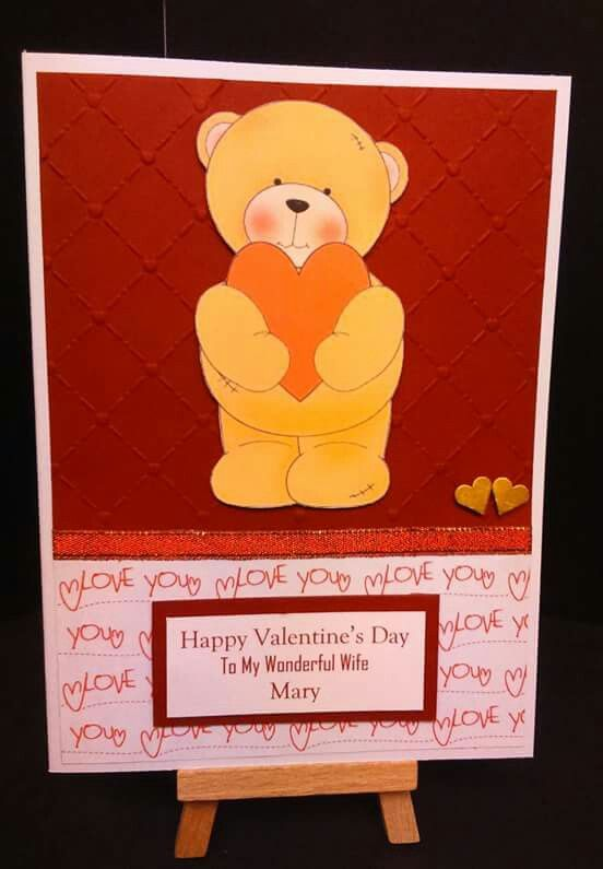 Handmade personalised Valentines Day card from WwwFacebook – Personalised Valentines Day Cards
