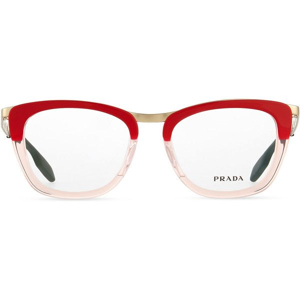 b8d68696fd0 ... australia prada ombre fashion glasses 345 liked on polyvore featuring  accessories eyewear eyeglasses circle eyeglasses red ...