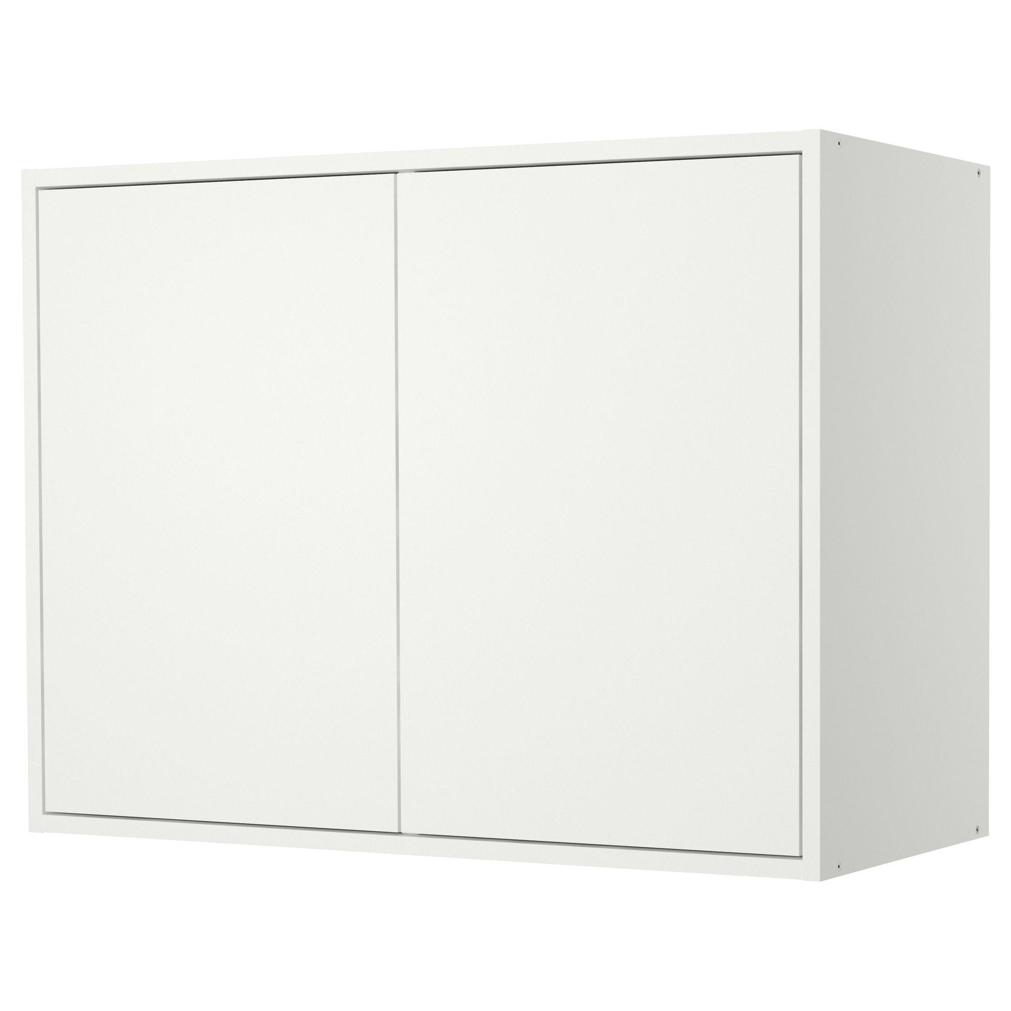 FYNDIG Wandschrank mit Türen - weiß/weiß - IKEA | Ikea | Pinterest ...