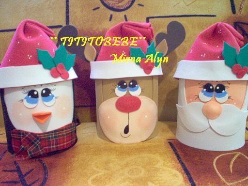 Manualidades Alyn BOTES NAVIDEÑOS DULCEROS navidad Pinterest - imagenes de manualidades