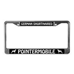 German Shorthaired Pointermobile License Plate Frame