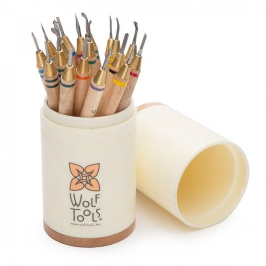 Wolf Precision Wax Carvers Tool Set - Kate Wolf, noted master model-maker and instructor, designed her Precision Wax Carvers to revolutionize carving in wax...