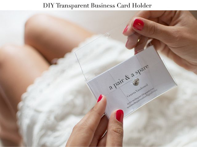 diy transparent busines card holder2 by apairandaspare