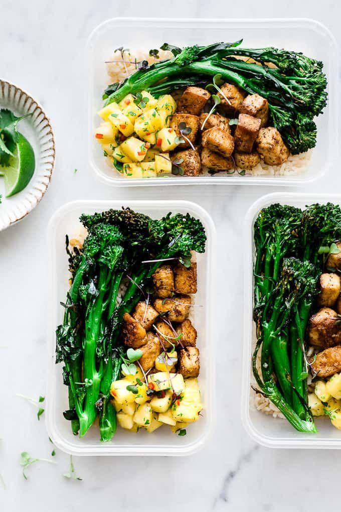Jerk Spiced Crispy Tofu Meal Prep Bowls