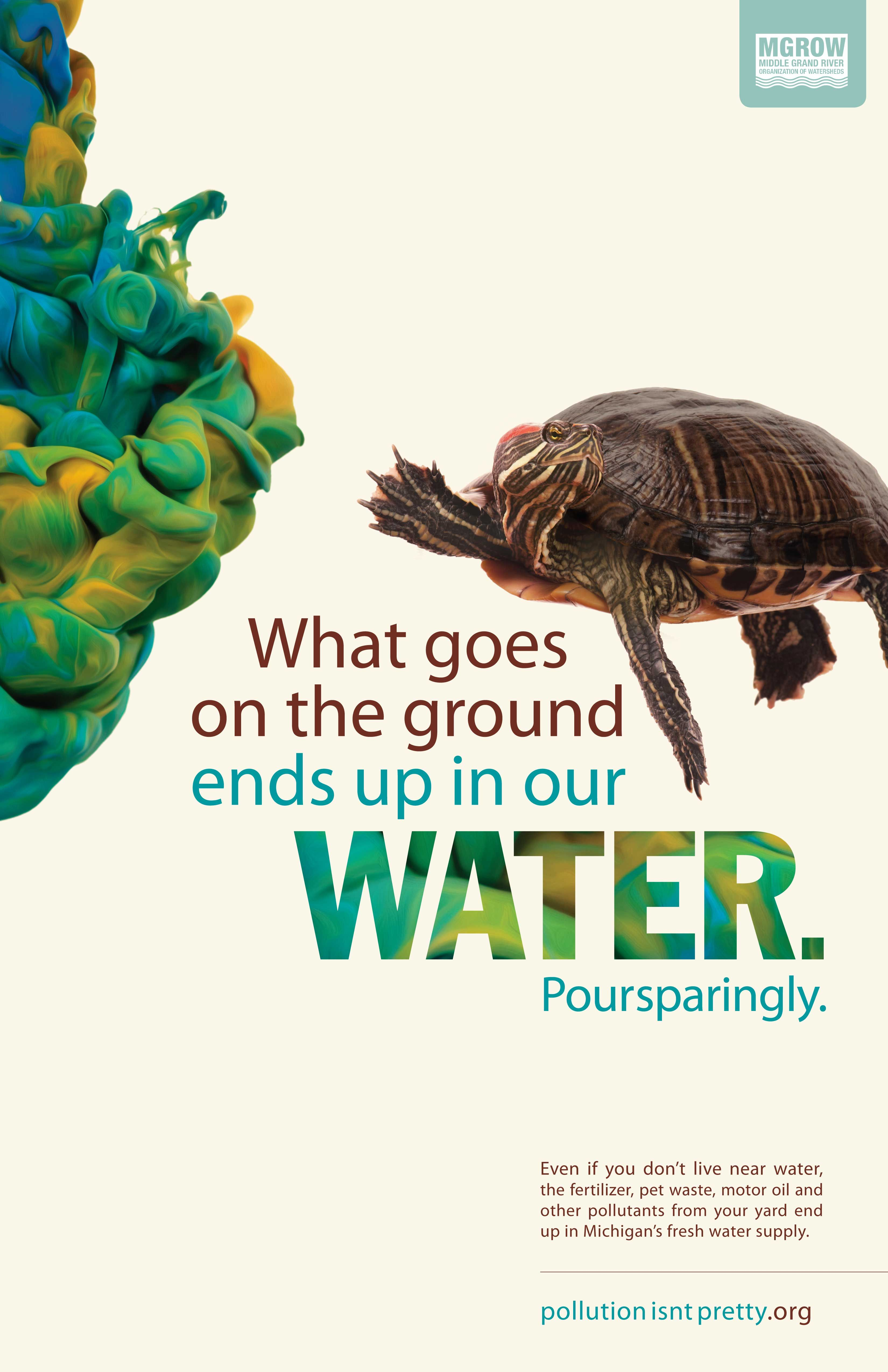 environmental water protection poster, Pollution Isn't