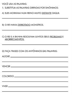 Sinonimos Antonimos Homonimos Exercicios Atividades 3 4 5 Anos