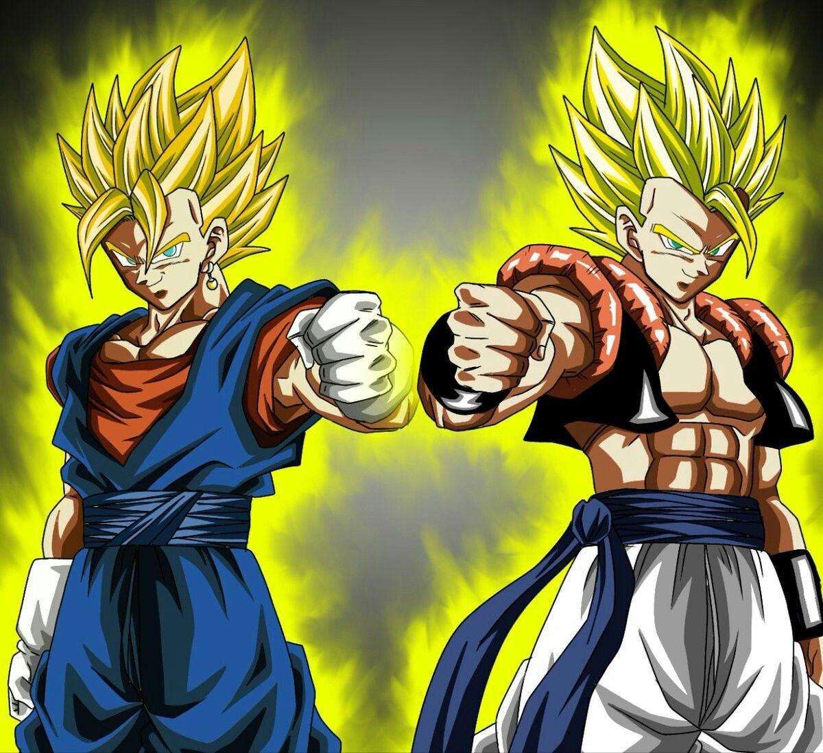 Vegetto Gogeta Ssj Personajes De Goku Personajes De Dragon Ball Vegetto Y Gogeta