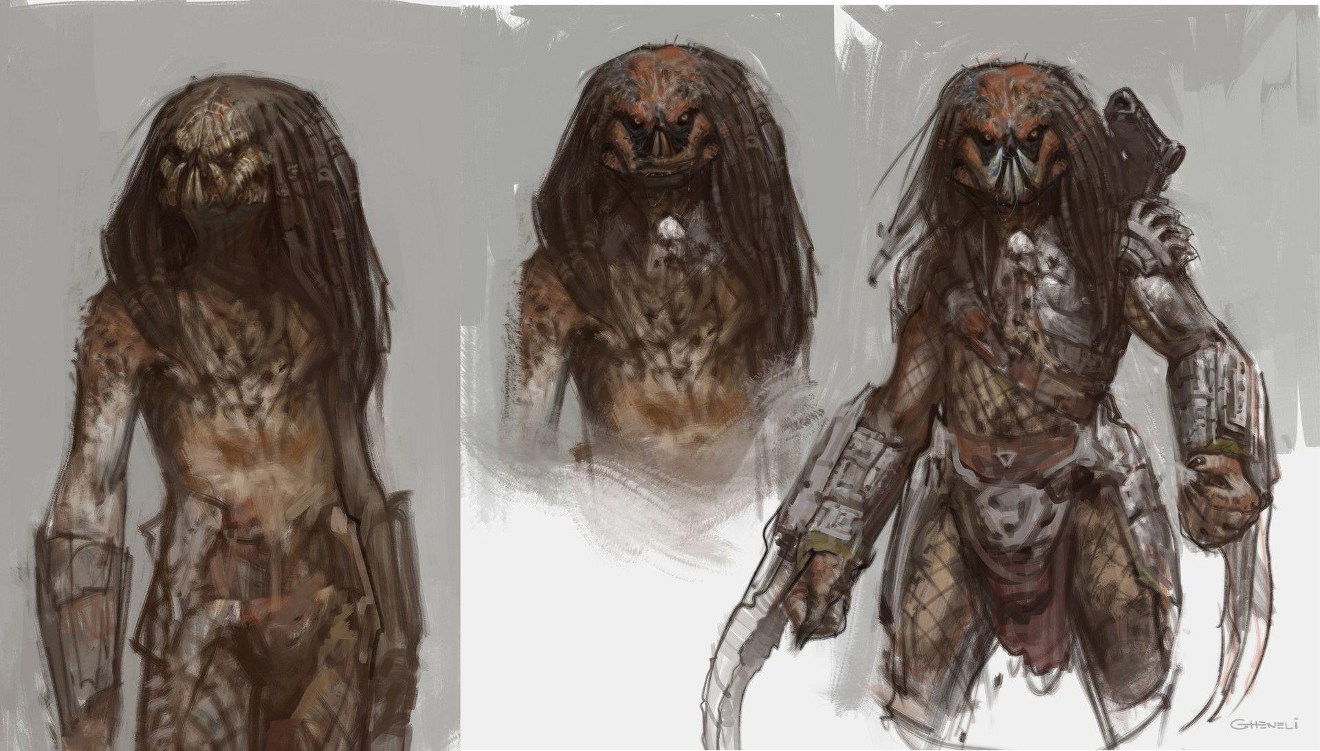 ArtStation - Predator sketches, Vlad Gheneli