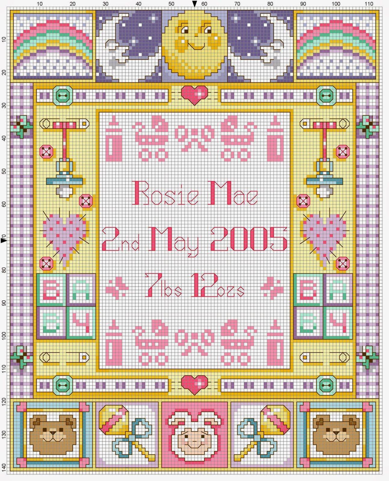 Favoloso Hobby lavori femminili: schema punto croce quadretti nascita  WK59