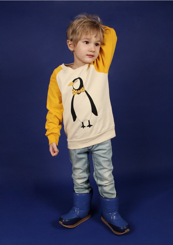9140cf9ab655 Funky penguin sweatshirt by Mini Rodini   CozyKidz.net
