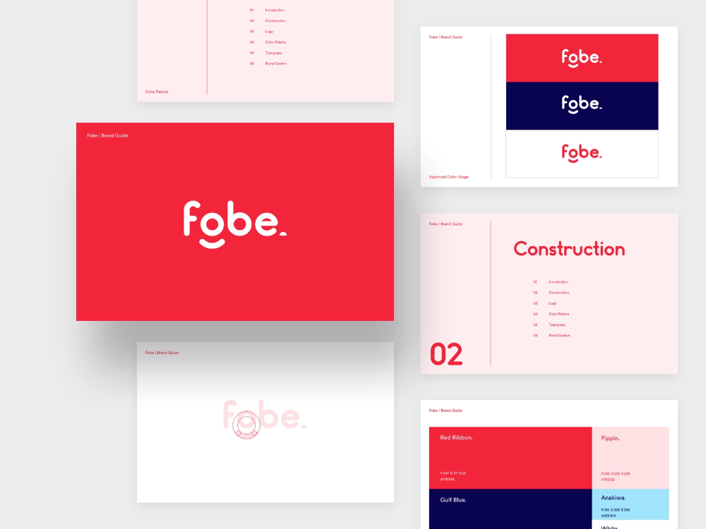 Fobe - Brand Guidelines by Green illumination on Dribbble