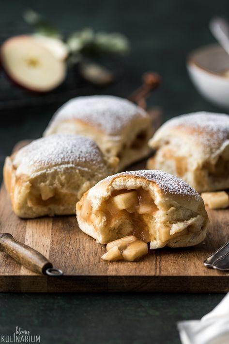 Fluffige Buchteln mit saftiger Apple Pie Füllung - Kleines Kulinarium #sweetpie