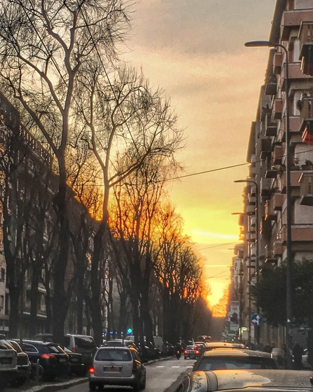 I tramonti pazzeschi di questi giorni  #Milano #milan #sunset #tramonto #tramontirossofuoco #street #trees #january #likeaspringday #instapic #instagood #instamood #vivomilano #volgomilano #top_lombardia_photo #ig_heartshot #igersmilano #ig_milano #milanodaclick #milanodavedere by lamary_diaries