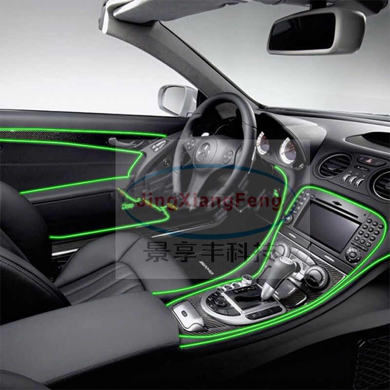 Auto Car Interior LED EL Wire Rope Tube Line flexible neon light ...