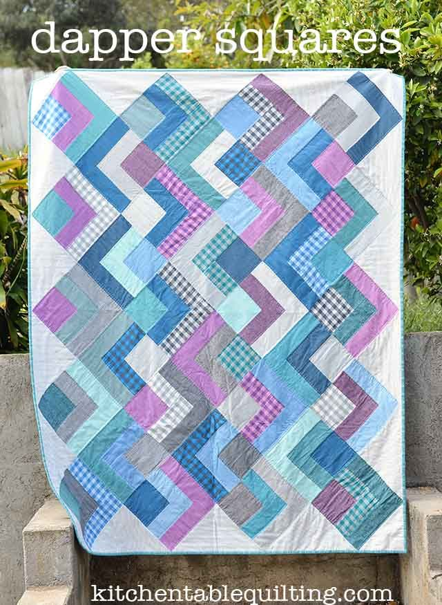 Free Quilt Patterns For Moda Fabric : Dapper Squares Quilt Moda Bake Shop, made from Luke Haynes Dapper Woven fabrics Free Quilt ...
