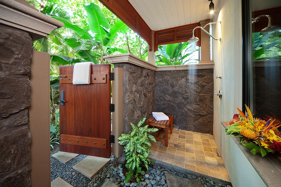 Private Outdoor Shower Grotto Off Master Bedroom Hot Tub Outdoor Outdoor Shower Outdoor Tub