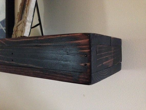 Floating Shelves With Lip Awesome Maybe This With A Lip On The Front Rustic Wood Floating Shelves