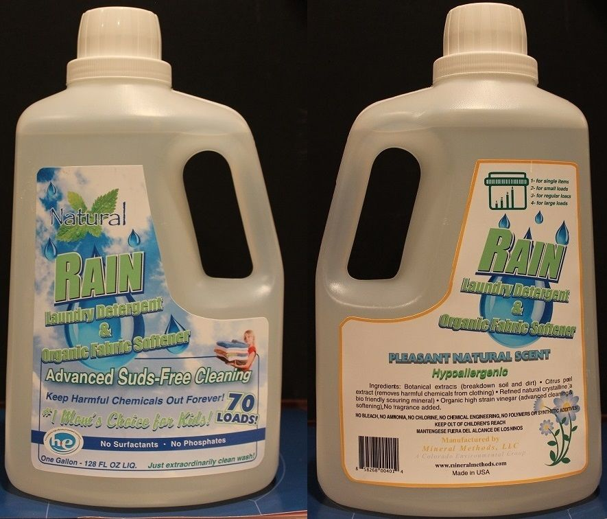 All Natural Rain Laundry Detergent Fabric Softener Challenges