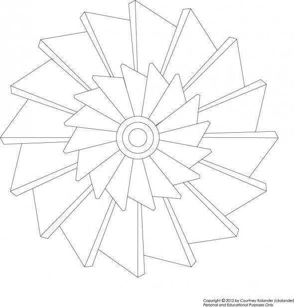 free printable pinwheel mandala coloring page art zentangle