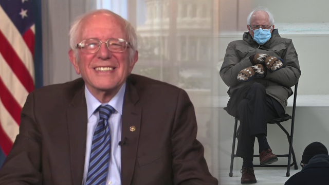Bernie Sanders Says Mitten Maker Overwhelmed By All The Attention His Inaugural Meme Has Created In 2021 Iconic Movies Mark Hamill Inauguration