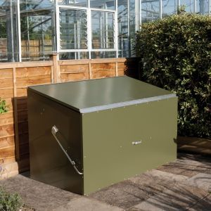 Pent Metal Garden Storage Box 6X3Olive Plastic Garden 400 x 300