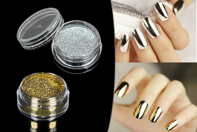 Magic Mirror Nail Powder - Gold or Silver | Stuff 2 buy | Pinterest ...