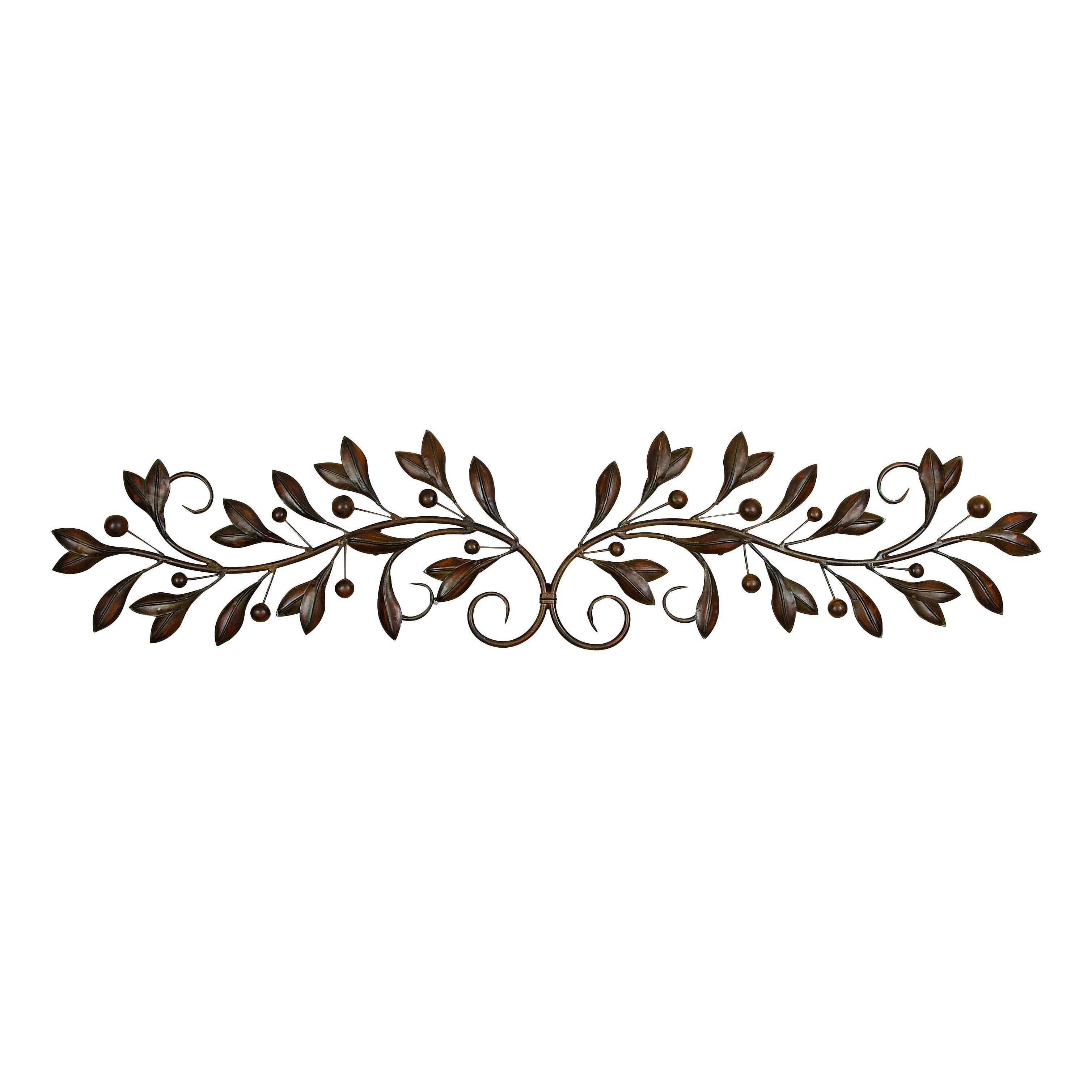 Benzara Metal Round Wall Decor With Brown