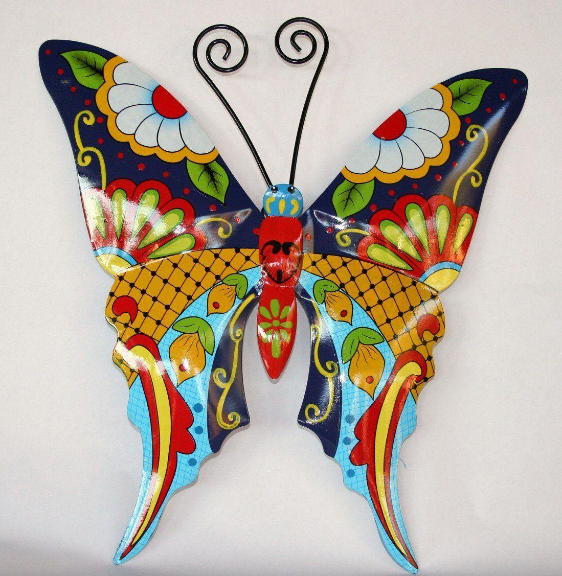 Talavera Wall Art amazon - mariposa de pared de metal del estilo del arte del