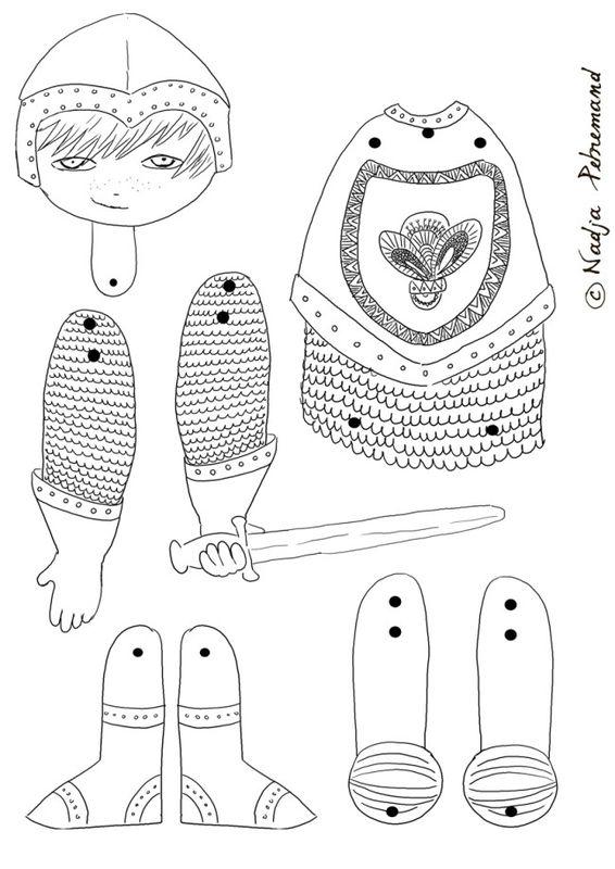 Coloriage gratuit chevalier chevaliers et princesses pinterest medieval crafts medieval - Coloriage moyen age maternelle ...