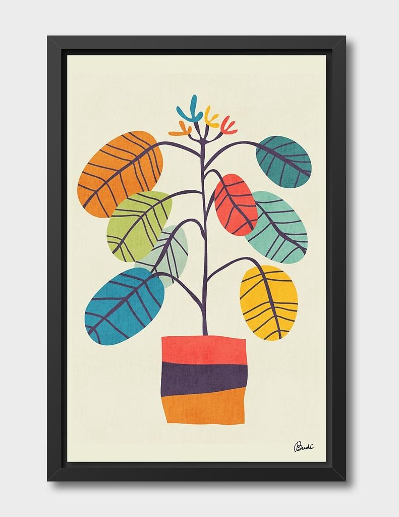 «Potted Plant 2» Canvas Print by Budi Kwan - Numbered Edition from $59 | Curioos