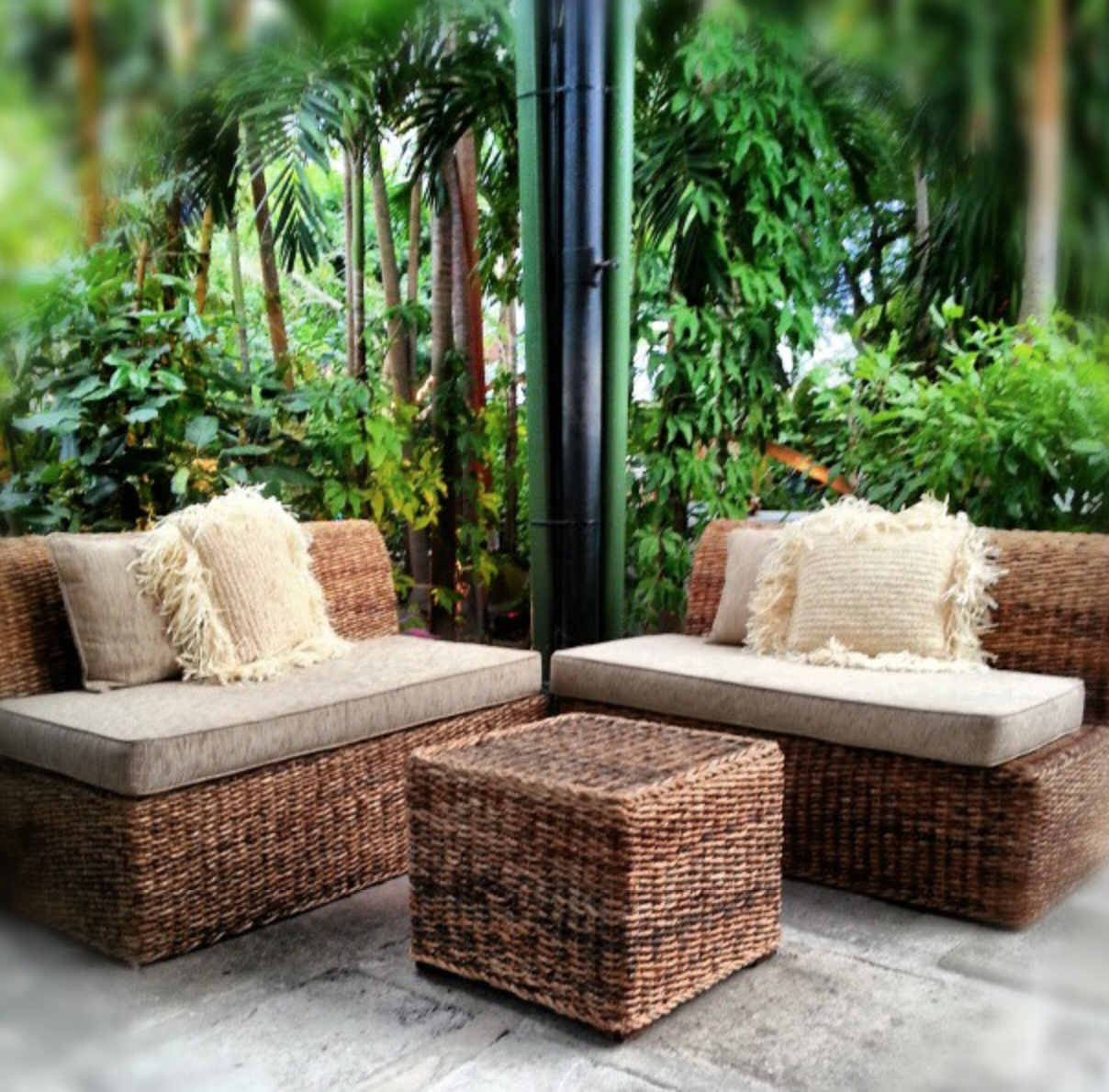 Sugar cane lounge banana leaf furniture and grass pillows florals sugar cane lounge banana leaf furniture and grass pillows florals and decor avant gardens miami memorable details pinterest order flowers and geotapseo Image collections