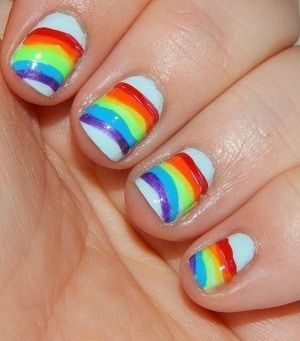 beautifullyalive… in 2020  rainbow nails rainbow nail