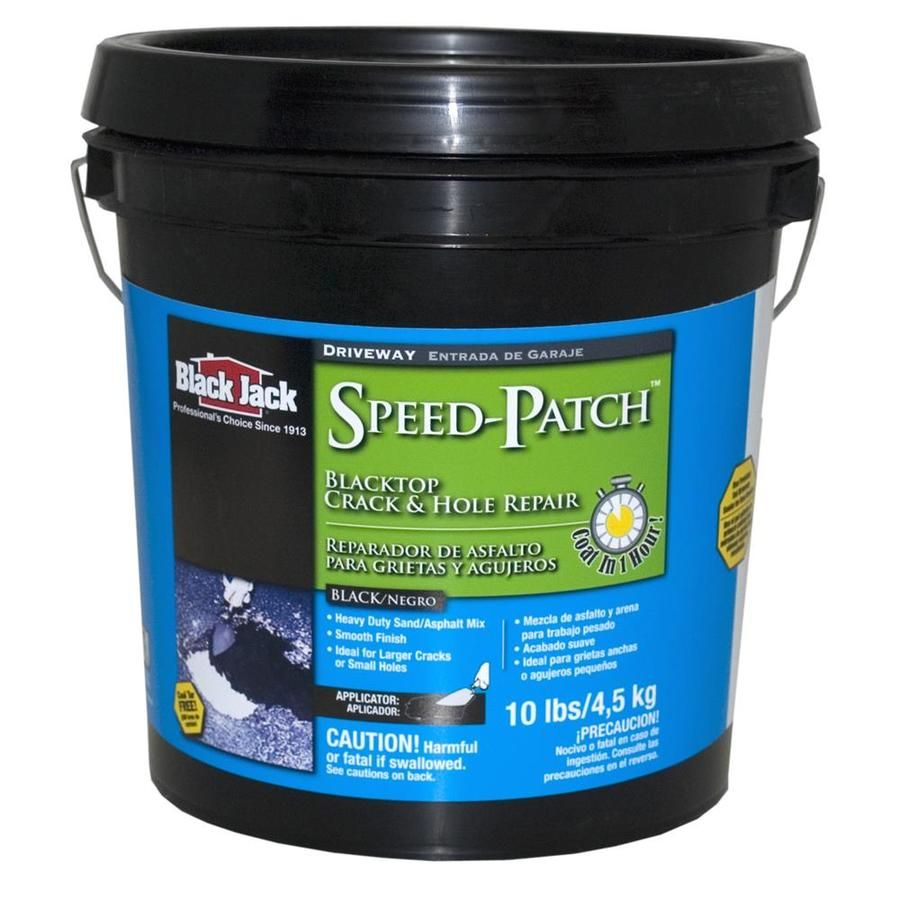 Black Jack Speed Patch 10 Lb Asphalt Patch Lowes Com Jack Black Asphalt Patch Blacktop Driveway