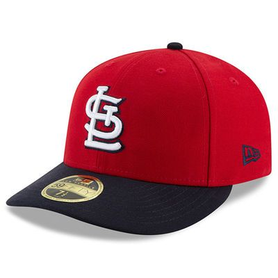 1a8057b40a1 Men s New Era Red Black St. Louis Cardinals Victory Side Low Profile 59FIFTY  Fitted Hat