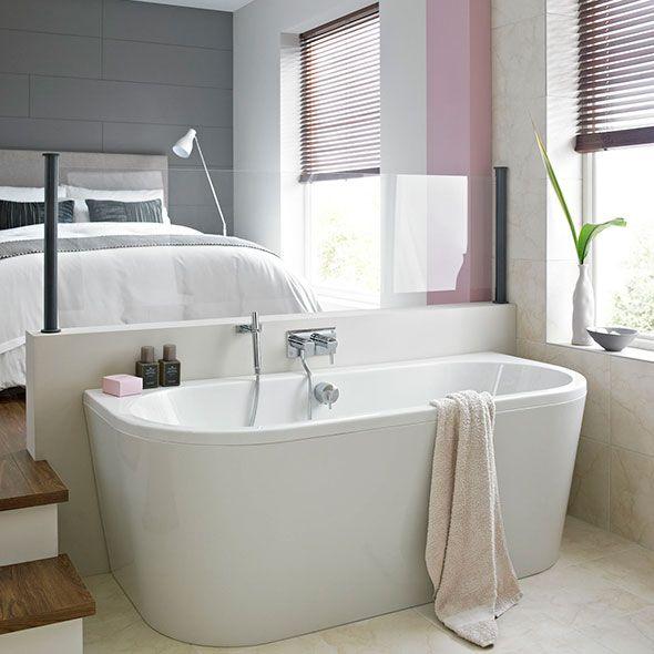 Half Oval Bath  Bathroom Ideas  Pinterest  Freestanding Bath Classy Small Bathroom Freestanding Bath Decorating Inspiration