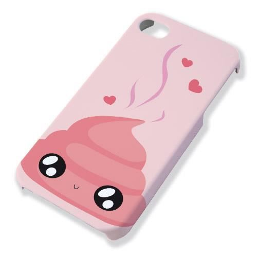 coque pour iphone 4 et 4s caca rose chibi kawaii by fluffy. Black Bedroom Furniture Sets. Home Design Ideas