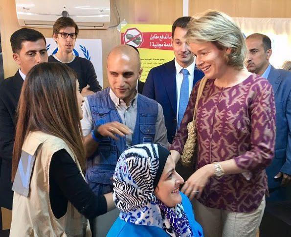 Queen Mathilde visits Al Zaatari refugee camp