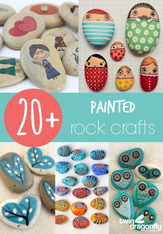 20+ Painted Rock Crafts | Rock crafts and Rock