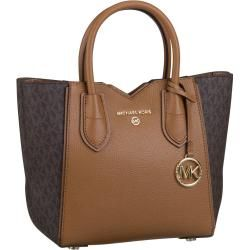 Photo of Michael Kors Handtasche Mae Small Messenger Mk Signature Brown/Acorn Michael Kors